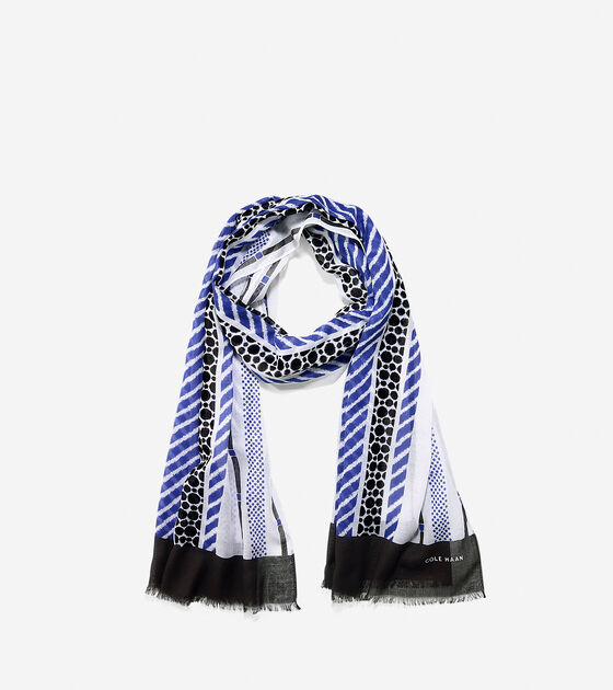 Scarves, Gloves & Hats > Nautical Geo Scarf