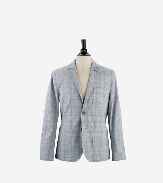 Outerwear > Plaid Blazer