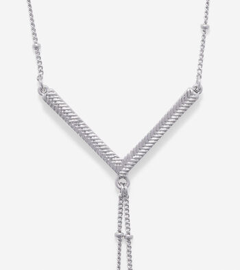 Signature Metal V Double Y Necklace