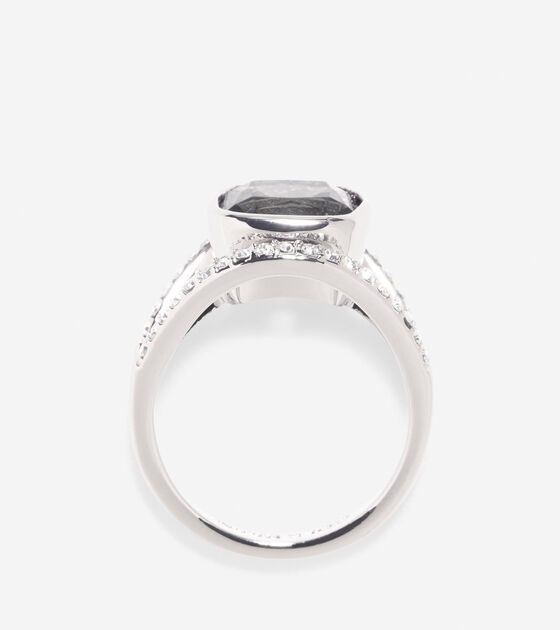 Cocktail Hour Center Square Stone Pave Bar Ring