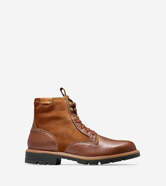 Boots > Grantland Waterproof Plain Toe Lace Up Boot