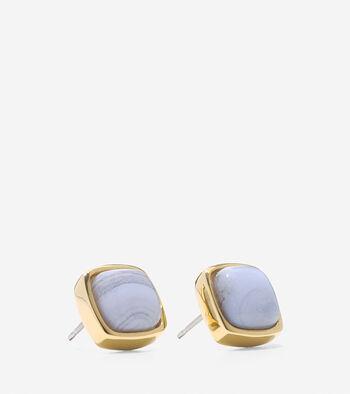 Tali L'Heure Bleue Semi-Precious Square Stud Earrings