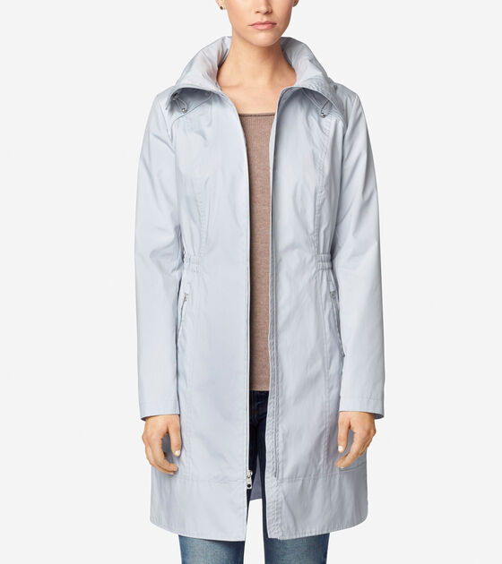 Outerwear > Single Breasted Packable Rain Jacket