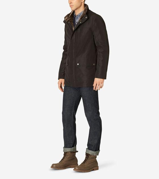 Stand Collar Nylon Jacket