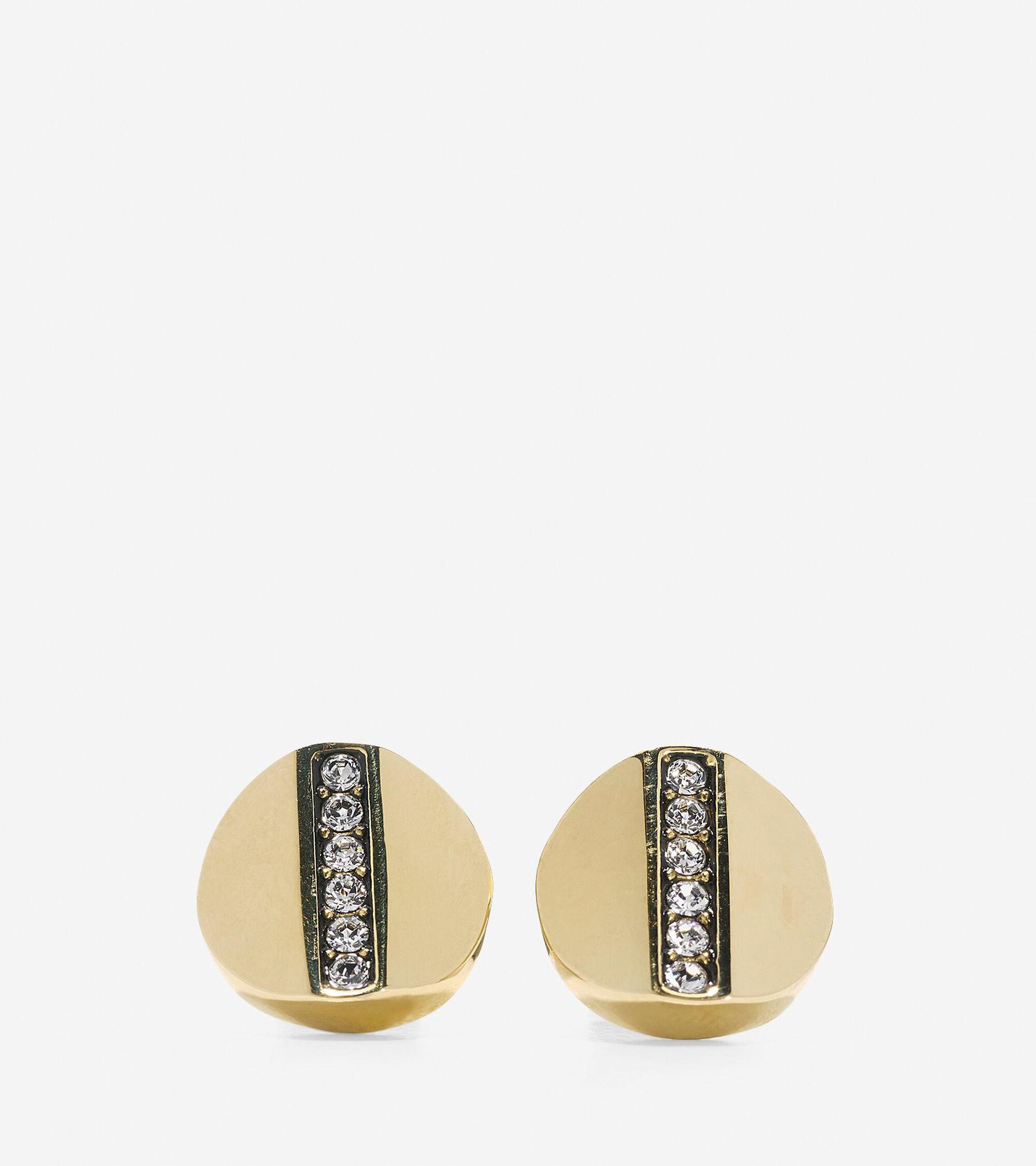 Jewelry > Round Pave Swarovski Bar Stud Earrings