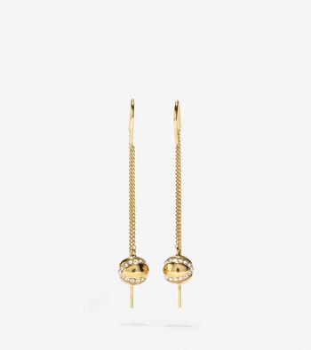 Set the Ball in Motion Swarovski Threader Earrings