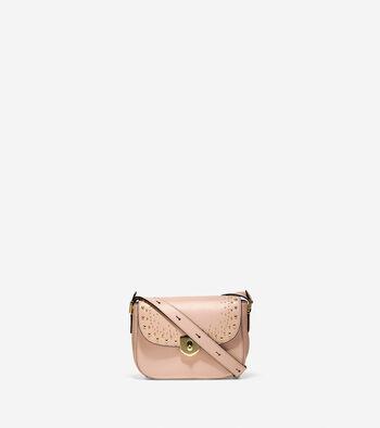 Marli Studded Mini Saddle Bag