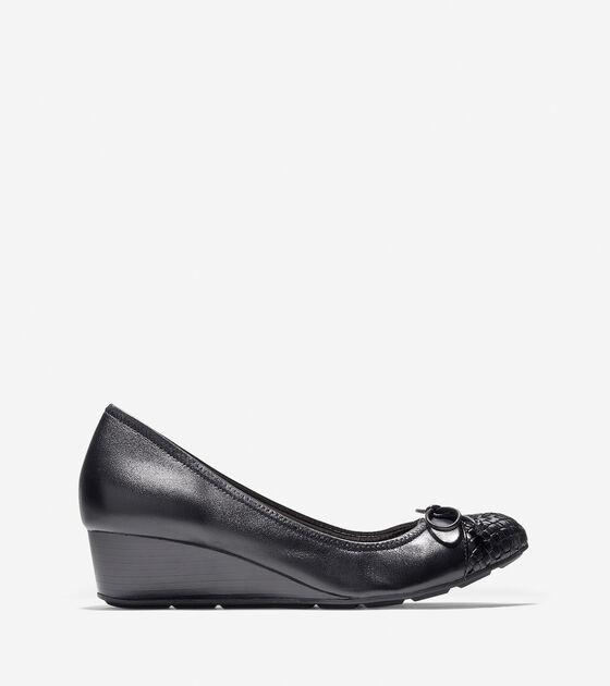 Shoes > Tali Weave Cap Toe Wedge (40mm)
