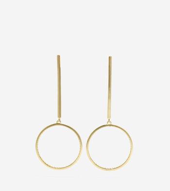 Long Drop Round Earrings