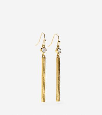 Marine Links CZ Linear Earrings