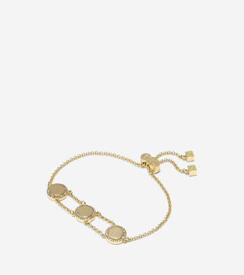 Madison Avenue Pavé Round Swarovski Pull-Tie Bracelet