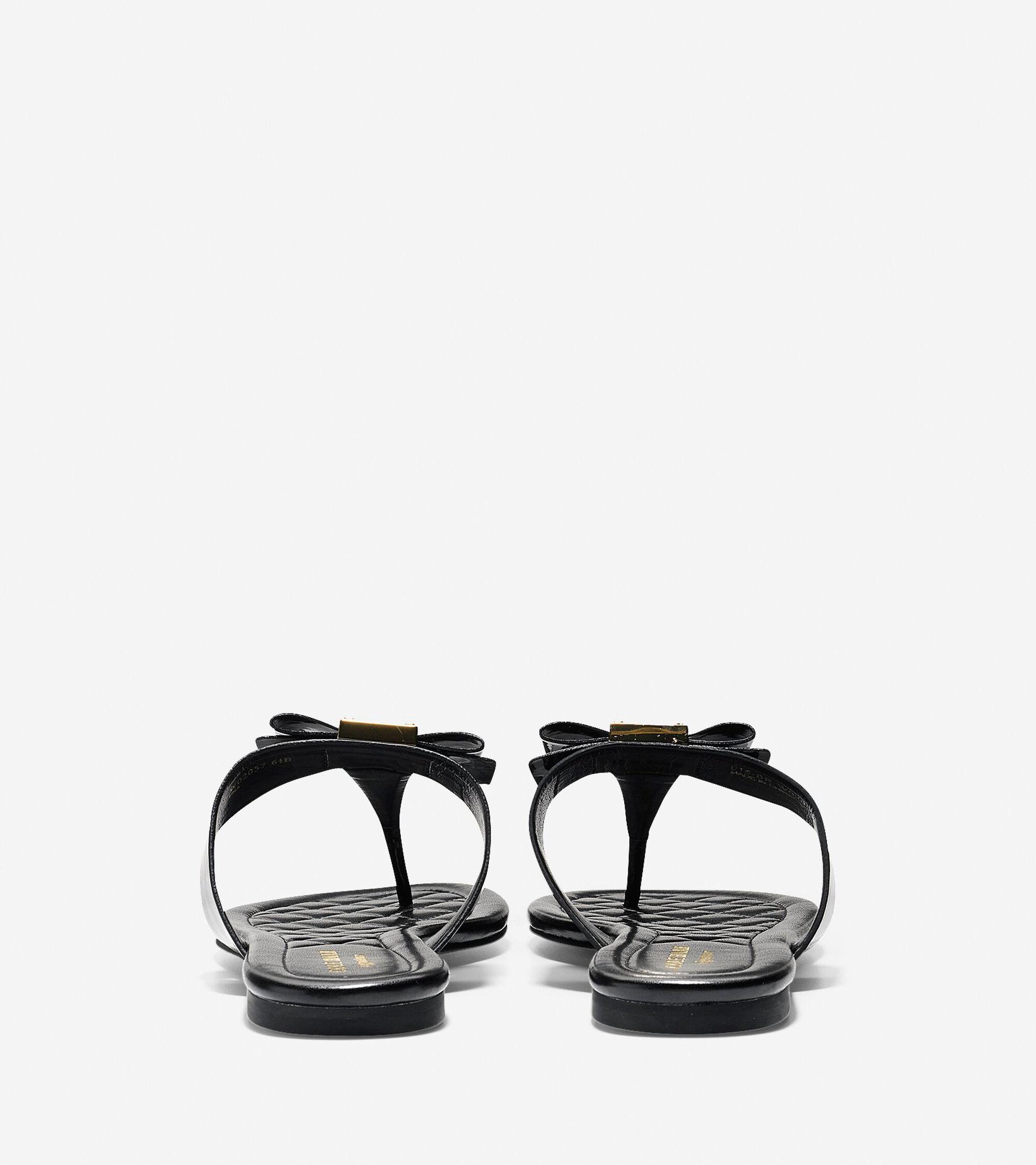 Sandals in black -  Tali Bow Flat Sandal