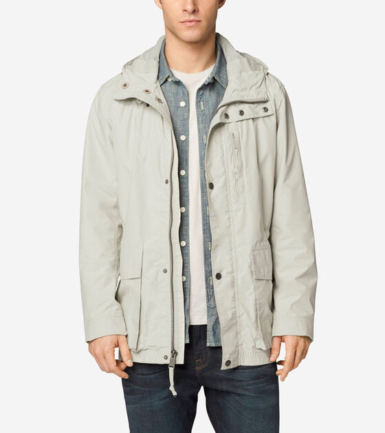 Outerwear > Garment Washed Hooded Jacket