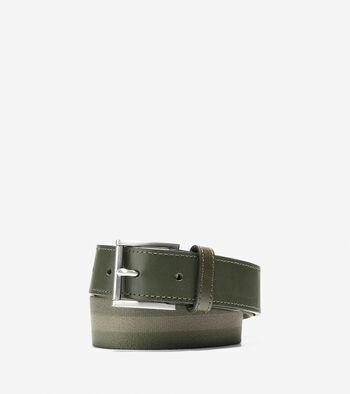 35mm Webbing Leather Belt