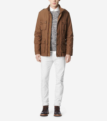 Brushed Twill Utility Jacket
