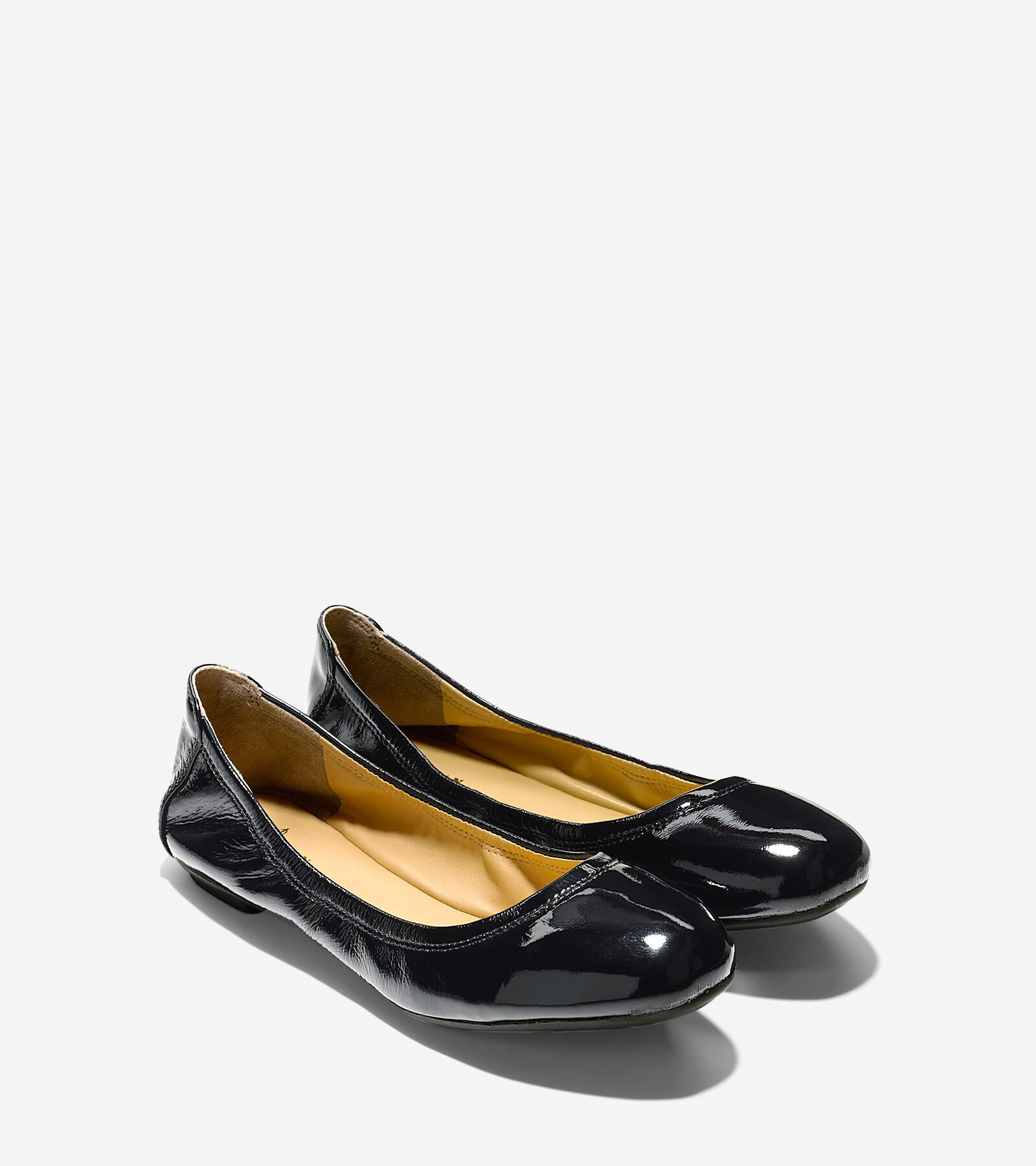 free shipping largest supplier manchester great sale cheap online Cole Haan Patent Leather Round-Toe Flats outlet eastbay really sale online XEdto7sj3
