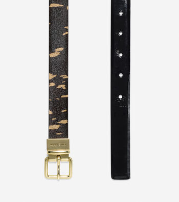 Reversible Haircalf-Leather Belt