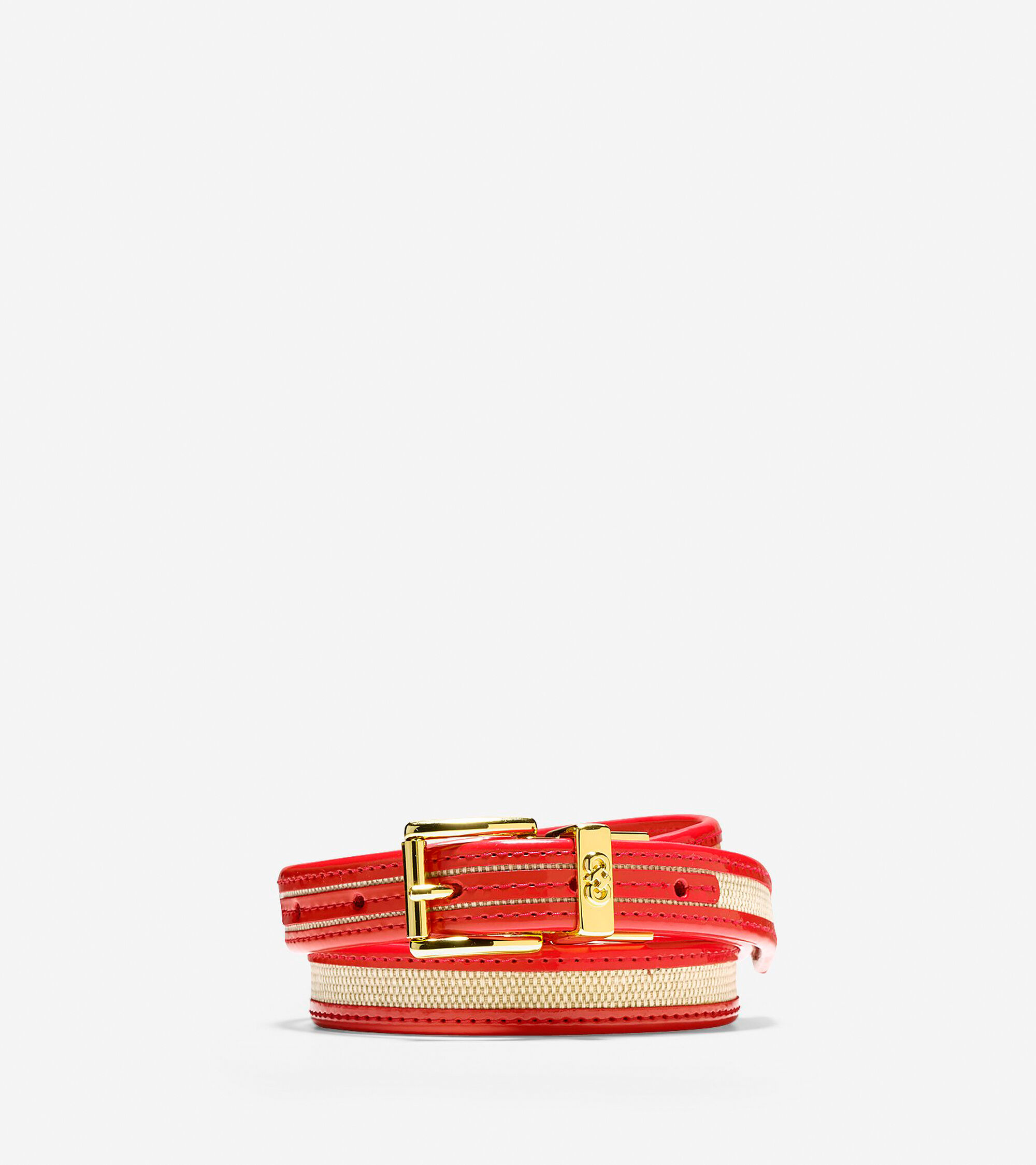 Accessories > Canvas-Leather Trim Belt