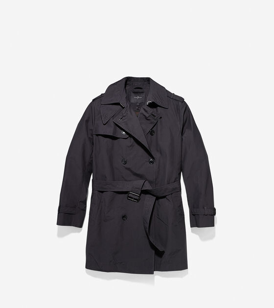 Outerwear > Waxed Cotton Double Trench