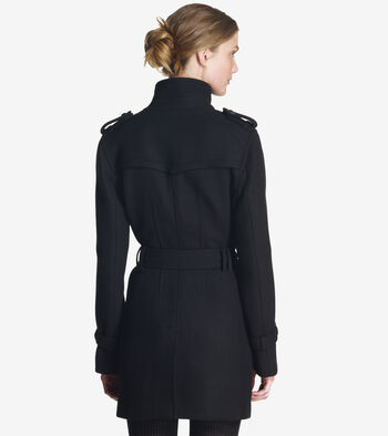 Soft Wool Twill Coat