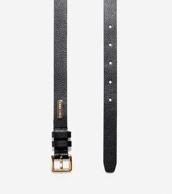 20mm Pebbled Leather Belt