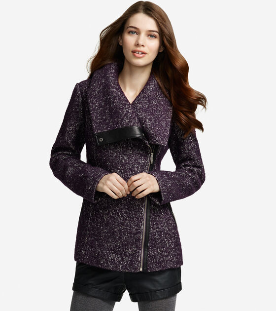 Outerwear > Boucle Herringbone Coat