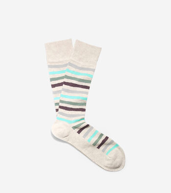 Pinch Wave Stripe Crew Socks