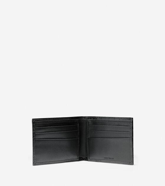 Embossed Croc Slim Billfold Wallet