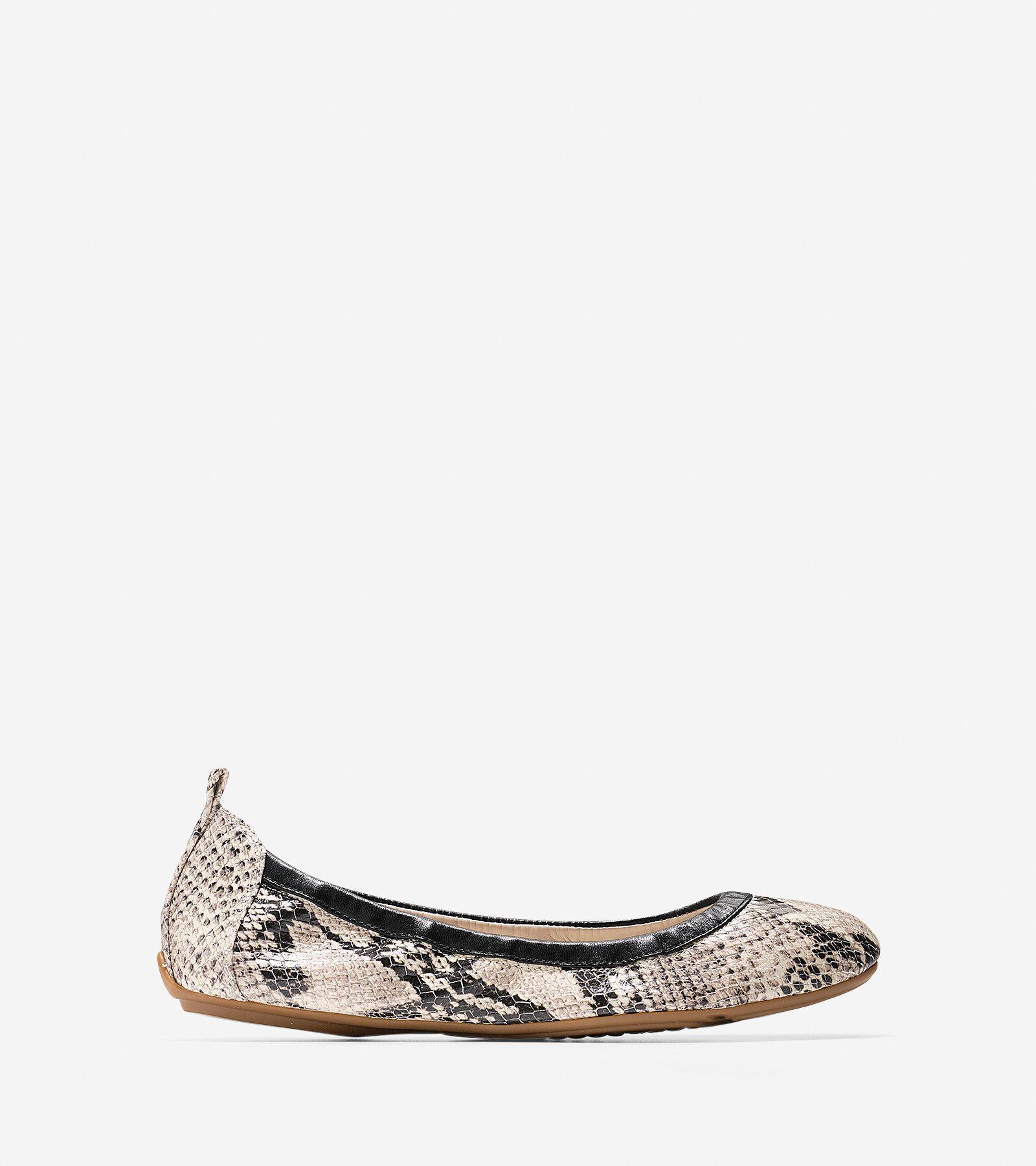 Womens Shoes Cole Haan Jenni Ballet II Roccia Snake Print