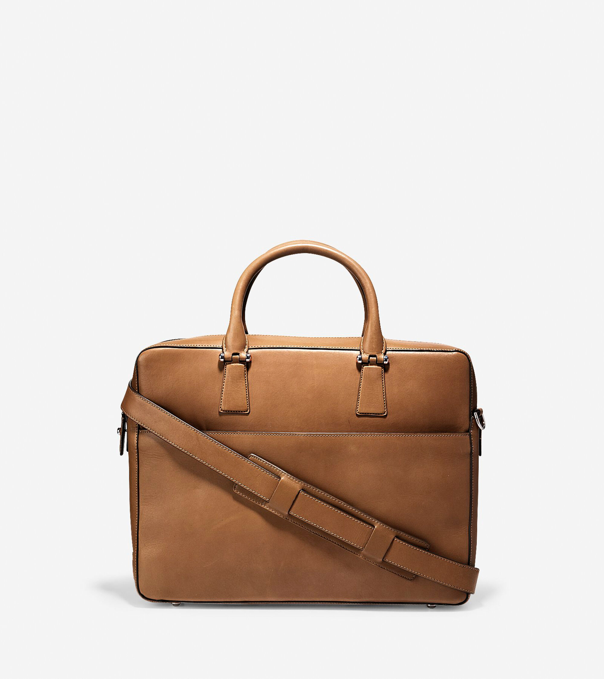 Men\'s Washington Grand Attache Case in Luggage Leather | Cole Haan