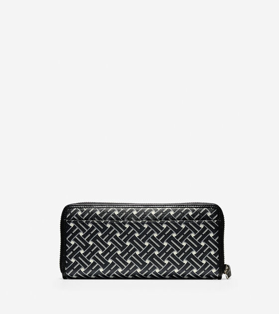 Signature Weave Continental Zip Wallet
