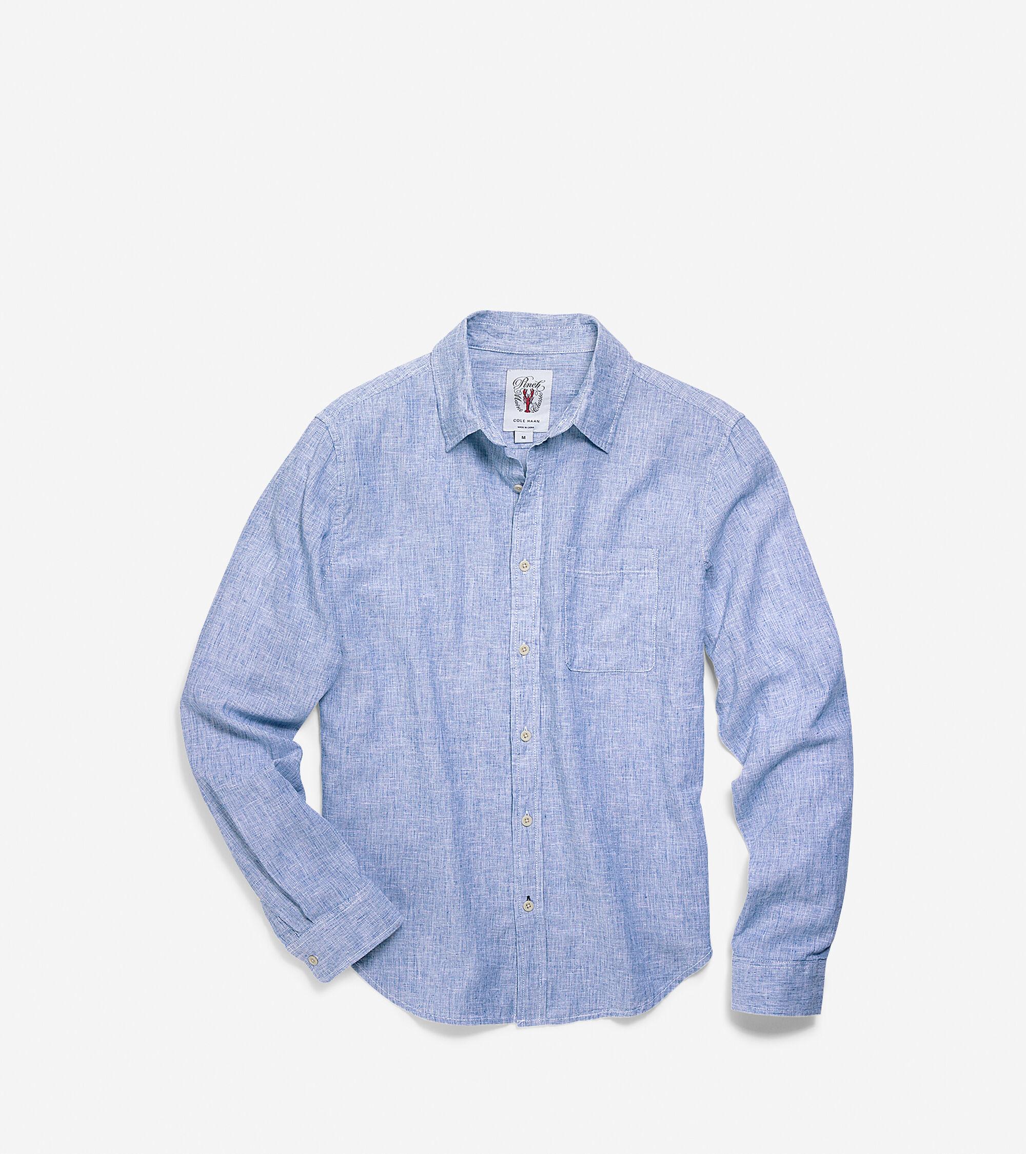Apparel > Men's Pinch Woven Long Sleeve Shirt