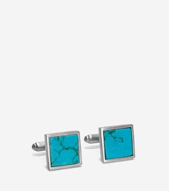 Semi-Precious Square Cuff Links