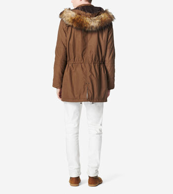 Brushed Twill Military Parka