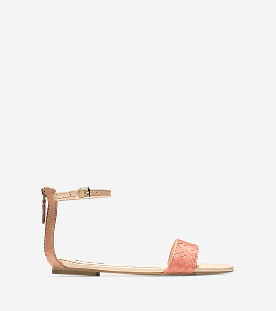 Shoes > Genevieve Weave Flat Sandal