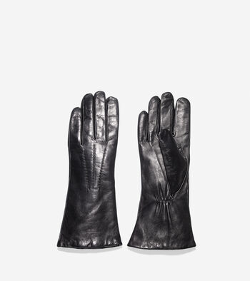 Long Lambskin Leather Gloves