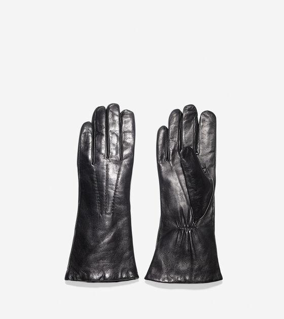 Long Lambskin Leather Gloves