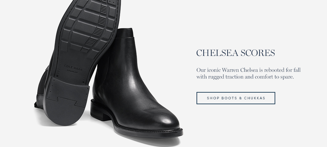 Chelsea Lately: Our iconic Warren Chelsea is rebooted for fall with rugged traction and comfort to spare.