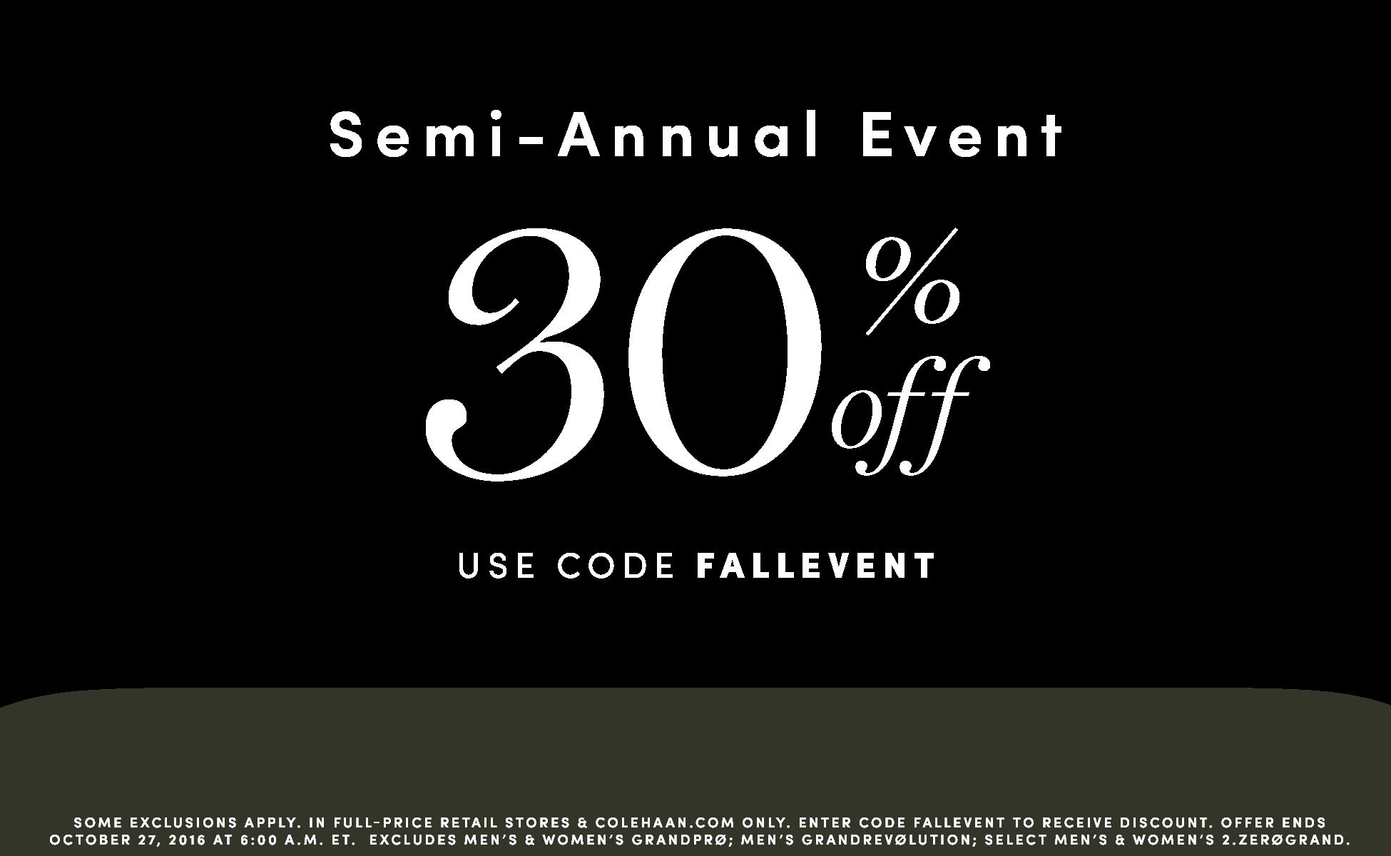 SEMI-ANNUAL EVENT - 30% OFF