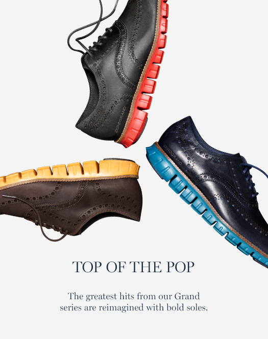 Top of the Pop: The greatest hits from our Grand series are reimagined with bold soles.