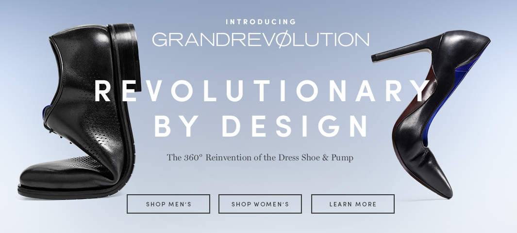 Introducing GrandRevolution: Revolutionary By Design. The 360 Reinvention of the Dress Shoe and Pump