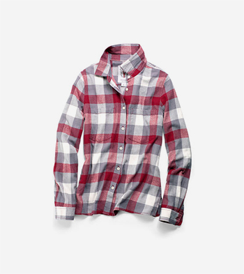 Women's Pinch Long Sleeve Plaid Shirt