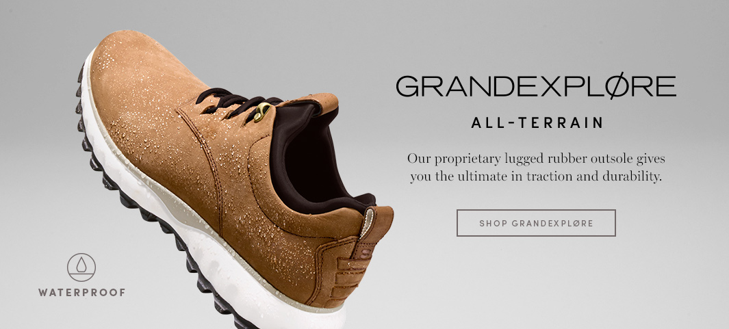 GrandExplore All-Terrain features our proprietary lugged rubber outsole for fearless traction and durability.