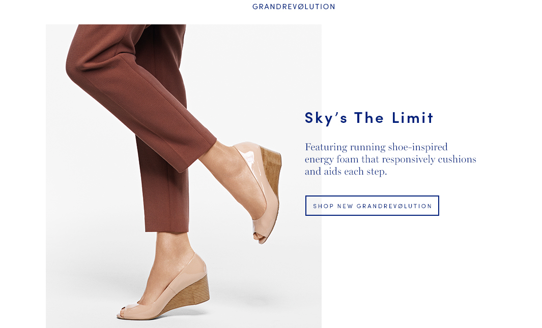 Sky's The Limit: Featuring running shoe-inspired energy foam that responsively cushions and aids each step