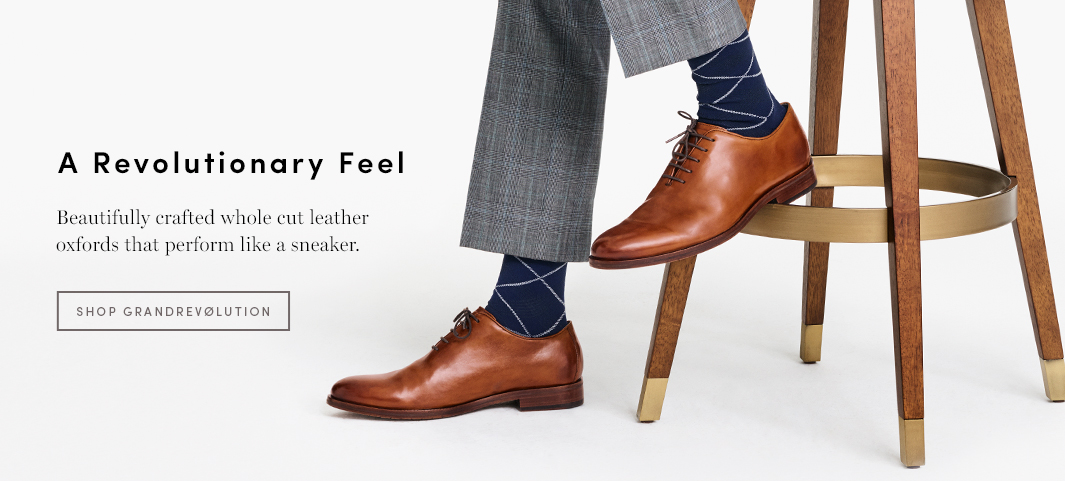 A Revolutionary Feel Beautifully crafted whole cut leather oxfords that perform like a sneaker.