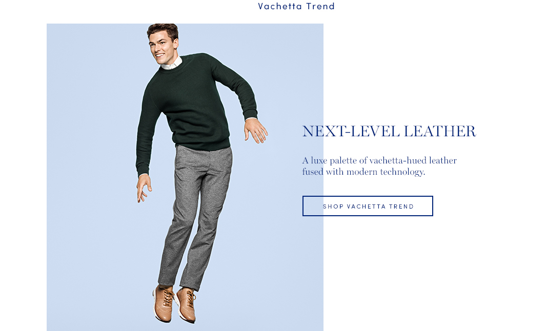 Next-Level Leather: Designed to elegantly patina over time, our vachetta leather ZEROGRAND styles form a look that is uniquely yours