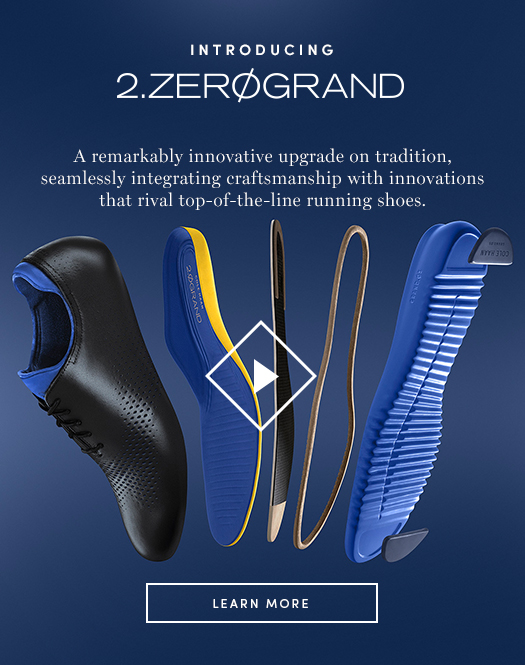 Introducing 2.ZERØGRAND: A remarkably innovative upgrade on tradition, seamlessly integrating craftsmanship with innovations that rival top-of-the-line running shoes.
