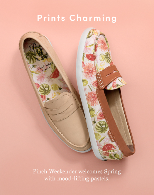 Prints Charming: Pinch Weekender welcomes Spring with mood-lifting pastels.