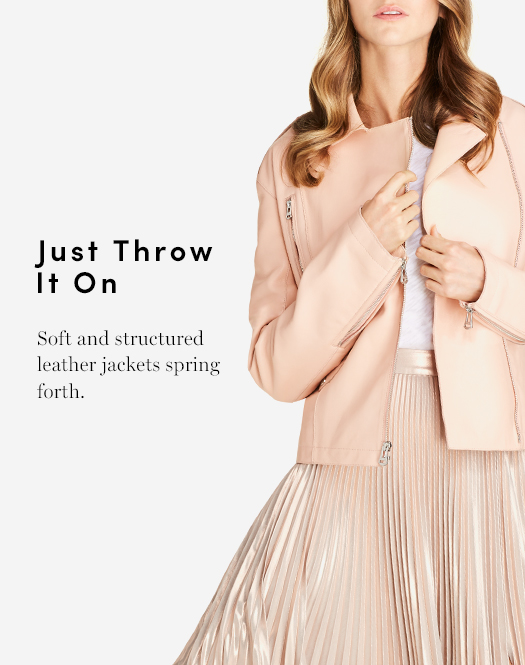 Just Trow it on - Soft and structured leather jackets spring forth