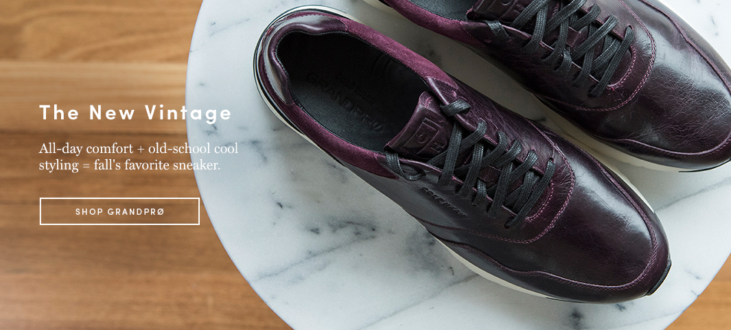 The New Vintage: All-day comfort and old-school styling make the GrandPrø Runner fall's favorite sneaker.